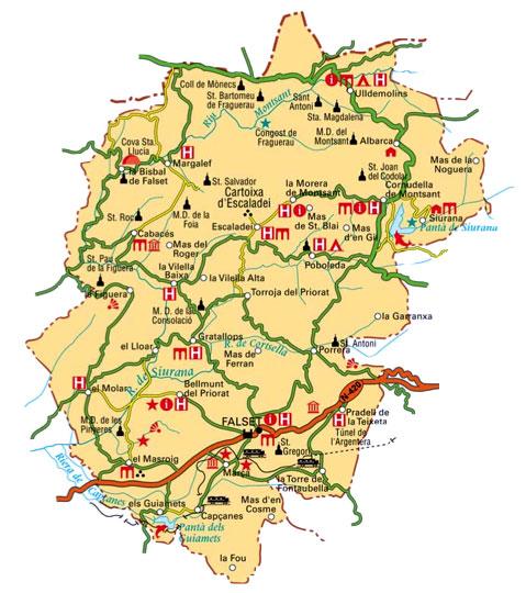 Map of Priorat Region