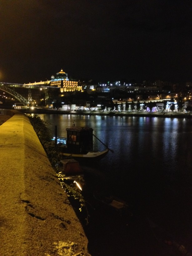 Ribeira of Porto looking over at Vila Nova de Gaia at night