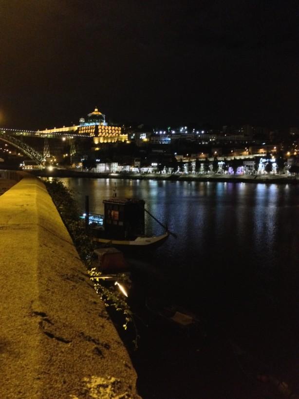 Ribeira of Porto looking over at Vila Nova de Gaia at night