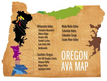 Oregon Wine Region Map- Source: Oregon WinePress